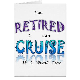 Retired and Cruising Fun in The Sun Card