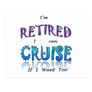 Retired and Cruising Fun in The Sun Postcard