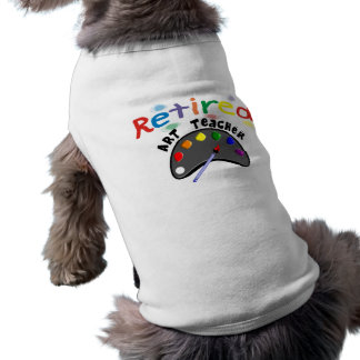 Retired Art Teacher Cards & Gifts Sleeveless Dog Shirt