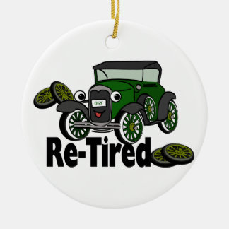 ReTired Automobile Christmas Ornament