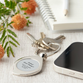 Retired Bank Manager Silver-Colored Swirl Key Ring