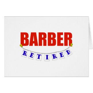 RETIRED BARBER CARD
