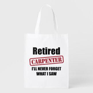 Retired Carpenter Reusable Grocery Bag