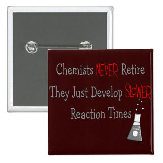 Retired Chemist Gifts 15 Cm Square Badge