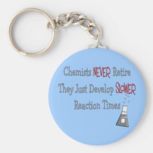 Retired Chemist Gifts Keychains