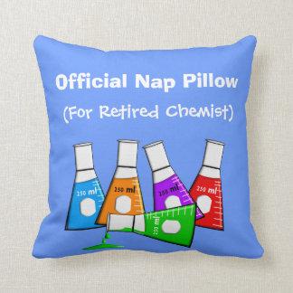 "Retired Chemist  ""Nap Pillow"" Cushion"