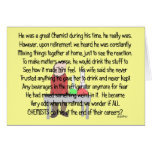 Retired Chemist Story Art Gifts Greeting Cards