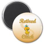 Retired Chick 6 Cm Round Magnet