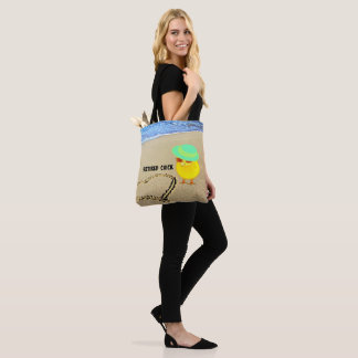 Retired Chick at the Beach Tote Bag