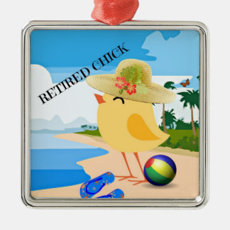 RETIRED CHICK: Chick at the Beach Christmas Ornament