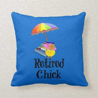 Retired Chick, Retirement Humor Cushion