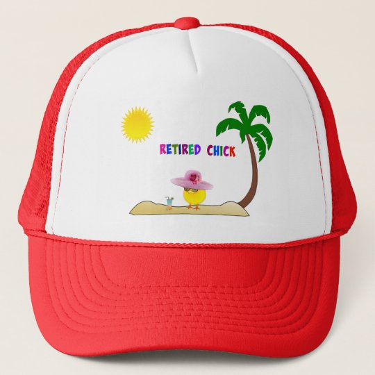 Retired Chick, So Cool Trucker Hat