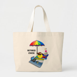 Retired Chick Jumbo Tote Bag