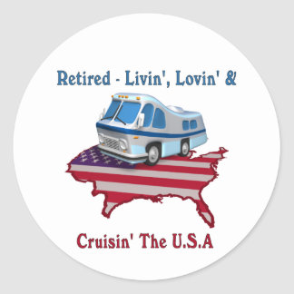Retired Classic Round Sticker