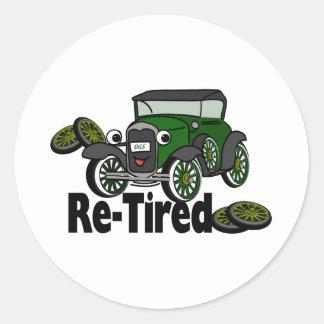 ReTired Classic Round Sticker
