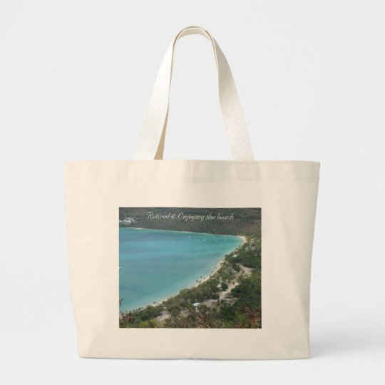 Retired  - Customised Large Tote Bag