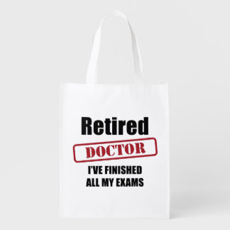 Retired Doctor Reusable Grocery Bag