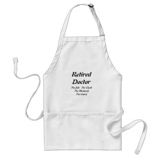 Retired Doctor Standard Apron