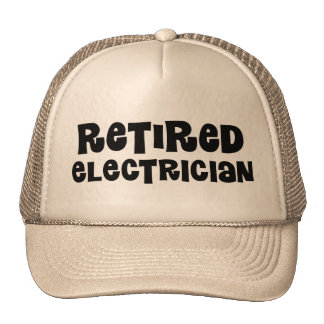 Retired Electrician Gift Cap