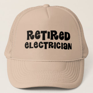 Retired Electrician Gift Trucker Hat