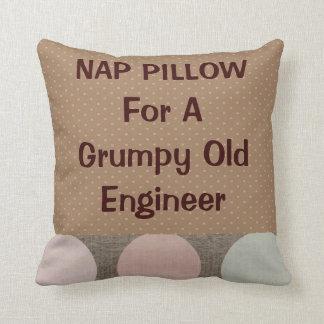 "Retired Engineer ""Nap Pillow"" Throw Pillow"