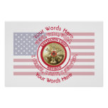 Retired Fire Battalion Chief VVV Shield Poster
