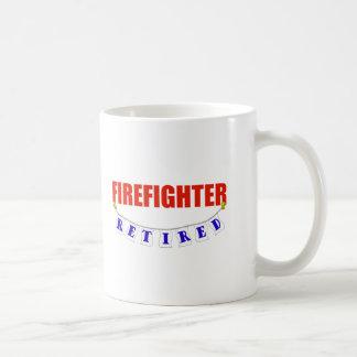 RETIRED FIREFIGHTER BASIC WHITE MUG