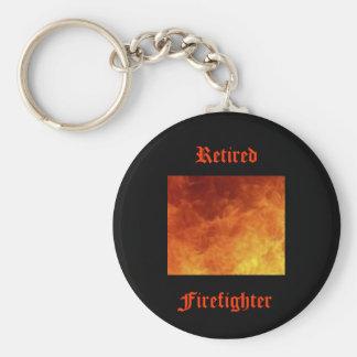 Retired Firefighter Key Chain