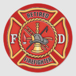Retired Firefighter Stickers