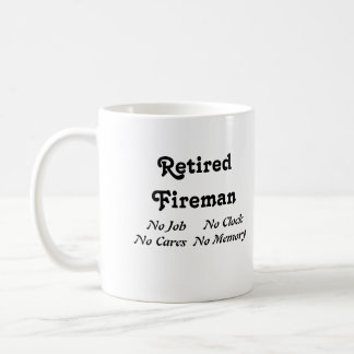 Retired Fireman Coffee Mug