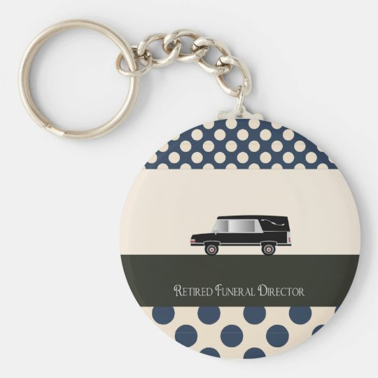 Retired Funeral Director Gifts Basic Round Button Key