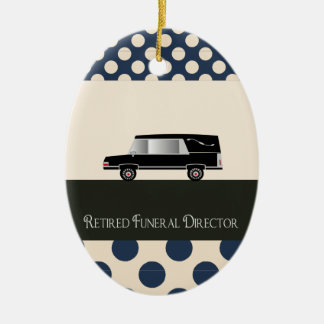 Retired Funeral Director Gifts Ceramic Oval Decoration