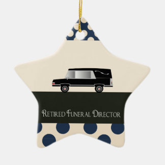 Retired Funeral Director Gifts Ceramic Star Decoration