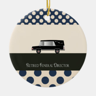 Retired Funeral Director Gifts Round Ceramic Decoration