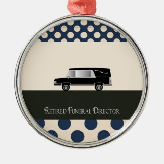 Retired Funeral Director Gifts Silver-Colored Round Decoration