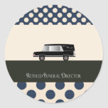Retired Funeral Director Gifts Sticker