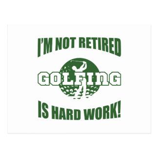 Retired Golf Lover Postcard