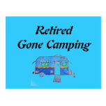 Retired Gone Camping Postcard