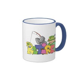 Retired Gone Fishing Ringer Mug
