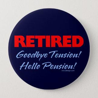 Retired Goodbye (dark blue) 10 Cm Round Badge