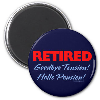 Retired Goodbye Tension (dark blue) 6 Cm Round Magnet