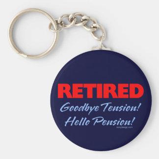 Retired Goodbye Tension (dark blue) Basic Round Button Key Ring