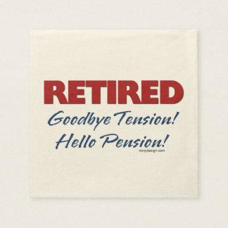 Retired: Goodbye Tension Hello Pension! Paper Napkins