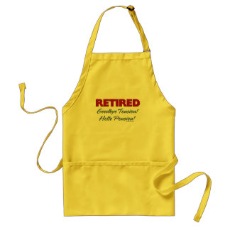 Retired: Goodbye Tension Hello Pension! Standard Apron