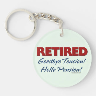 Retired: Goodbye Tension Quote Single-Sided Round Acrylic Key Ring