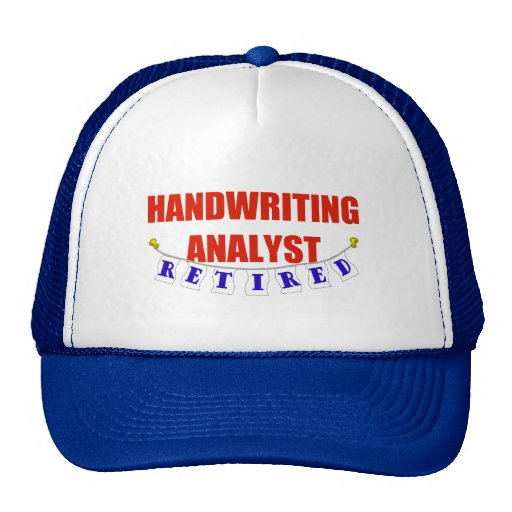 RETIRED HANDWRITING ANALYST TRUCKER HAT