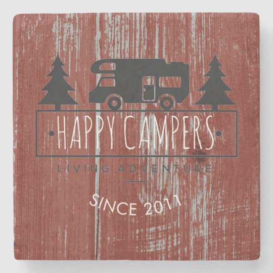 Retired Happy Campers | Rustic Wood Barn Red