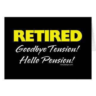 Retired Hellow Pension (Dark) Card