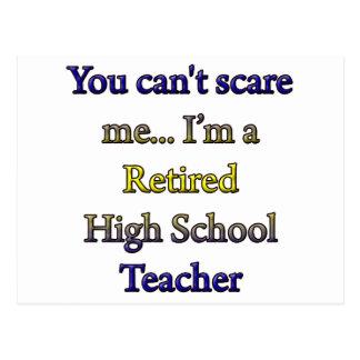 RETIRED HIGH SCHOOL TEACHER POSTCARD