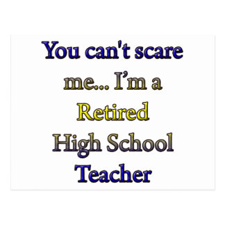 Retired High School Teacher Postcard